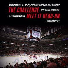 """The challenge gets higher and higher. Let's welcome it and meet it head-on"" - Coach Q. #BecauseItsTheCup"