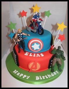 Avengers Cake Kates Cakes Pinterest Avenger cake Cake and