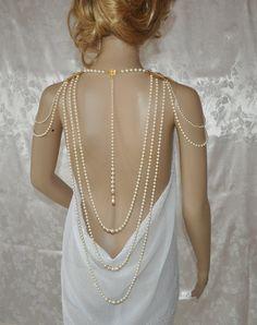 Swarovski Necklace Wedding Necklace Back by USASwarovskiBeauty, $325.00