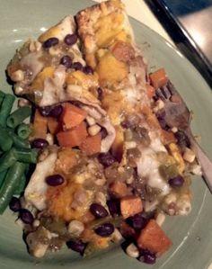 Sweet Potato Black Bean Enchiladas. Recipe recommended by Meghan