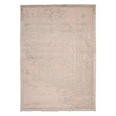 Bring eye-catching appeal to your den or define space in the living room with this art silk and chenille rug, showcasing a distressed damask motif in ivory a...