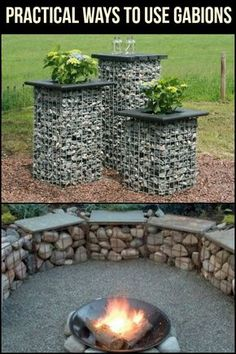 Gabions are not just for garden walls and fences!