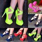 Ladies Suede Studded Platform Stilettos Platform Stilettos, High Heels Stilettos, Stiletto Heels, Neon Pumps, Ankle Strap Shoes, Lady, Shop, Fashion, High Shoes