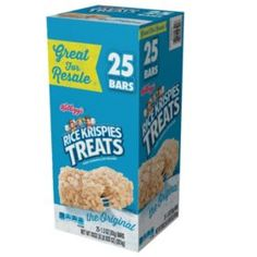 Rice Krispies Treats are a sweet, chewy, crispy snack that? Each pack includes 25 individually packaged, tasty marshmallow squares that are sealed for maximum freshness. Rice Krispies, Rice Krispie Bars, Rice Krispie Treats, Breakfast Snacks, Breakfast Cereal, Marshmallow Treats, Cereal Bars, Snack Bar, Food Packaging