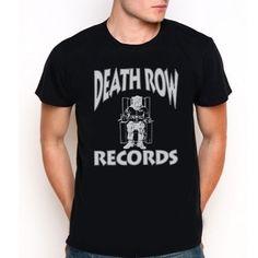 DEATH ROW RECORDS LOGO HIP HOP RAP Custom Black T-Shirt Tee All Size XS-XXL
