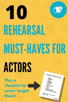 """Wondering how to get your best work out of rehearsal? Preparation is key!  Before you head to your first rehearsal take the time to pack a bag of all  the key items you'll need to succeed. Based on how the best actors prepare  for their rehearsal time, we recommend bringing:  1. Script  You're probably thinking, """"duh! of course I need my script!"""" But it's on  those days you forget it (and it happens to everyone!) that you'll wish you  had checked your rehearsal bag in advance. Never a bad…"""