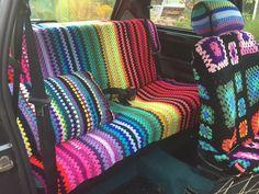 Will's Wools: Nettie's gehaakte auto! Nettie's crocheted car!