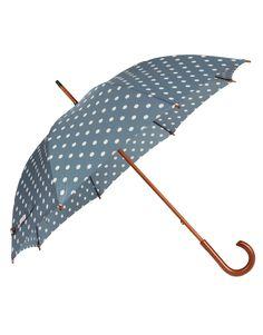 kensington umbrella // cath kidston Love this color :) Cute Umbrellas, Umbrellas Parasols, Polka Dot Umbrellas, Cath Kidston Umbrella, Brollies, Under My Umbrella, Singing In The Rain, Love Fashion, Asos