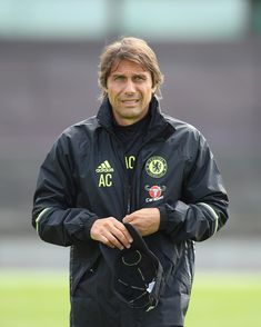 Antonio Conte heads out for his first training session at Cobham! Chelsea Blue, Chelsea Fc, Chelsea Football Team, Antonio Conte, Stamford Bridge, Fulham, West London, Premier League, Canada Goose Jackets