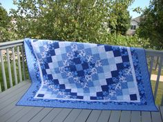 Trip Around the World quilt I made for a customer.