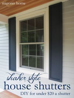how to build shutters (diy shutters) | the handmade home | great ...