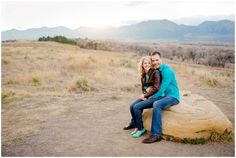Plum Pretty Photography | Colorado Mountain Engagement Photos | Davidson Mesa | Boulder Engagement Photography |