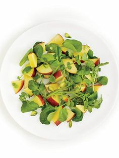 Watercress and Peaches