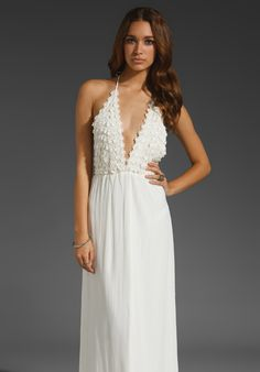 FOR LOVE & LEMONS Camillia Maxi in Ivory at Revolve Clothing