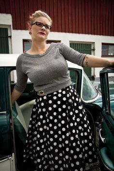 Rockabilly 50s Polkadot Skirt Plus Size