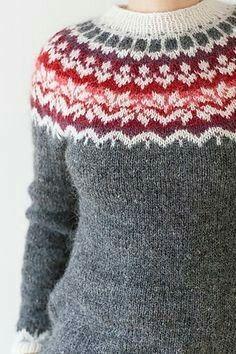 Afmaeli - påbörjades 4/12-16 Färdig 18/12 - 16  Nästa tröja - sticka provlapp!