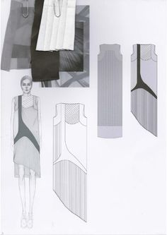 developing a fashion collection; Illustration Mode, Fashion Illustration Sketches, Fashion Sketchbook, Fashion Sketches, Vogue Fashion, Fashion Art, Sketchbook Layout, Fashion Design Portfolio, Fashion Project