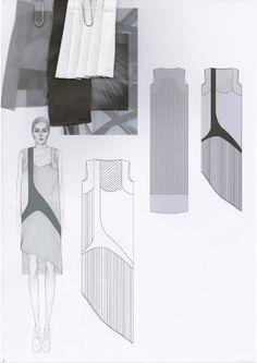 Fashion Sketchbook - fashion illustrations & fabrics; developing a fashion collection; fashion portfolio // Emily-Mei Cross