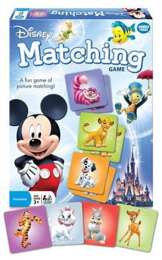 Memory Matching Game with Disney Characters