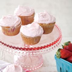Strawberry Buttermilk Cupcakes