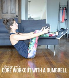 15-Minute Core Workout with a Dumbbell | Pumps & Iron | Bloglovin