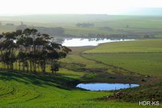 Some farm dam's in the Overberg, South Africa.