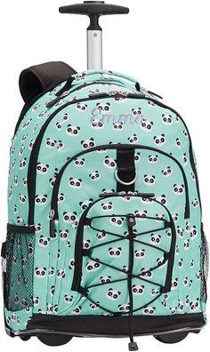 PBTeen Gear-Up Panda Rolling Backpack