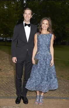 Pippa Middleton and her fiance James Matthews have made their first ever public appearance together at the ParaSnow Ball held at Hurlingham Gardens