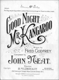 Good Night Mr Kangaroo. Lettering and typography