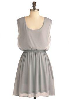 Simple Solution Dress in Silver | Mod Retro Vintage Dresses | ModCloth.com