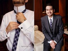 Love the groom's plaid tie!  (images by LightBox Photography)