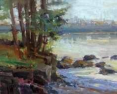 Water's Edge, oil painting, Mary Maxam