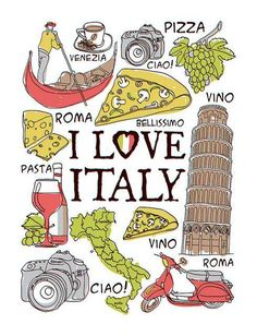 Where does one begin to start when discussing Italy. Well, if you intend to travel there, Rome and Venice are good places to start. Italian Theme, Italian Party, Italy Map, Italy Travel, Italy Vacation, Turin, Rome, Italy Culture, Italian Posters