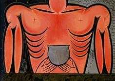 Mama quiere menga, menga de su nkombo, by Jose Bedia. Art Works, Modern Art, Art Museum, Miami Art, Pilgrim, Art Studies, Caribbean Art, Lino Print, Jose