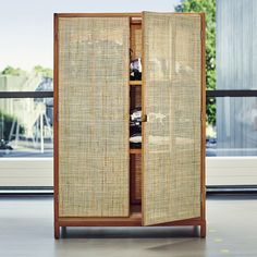 "Armoire collection ""Stockholm"" from IKEA . Wardrobe Furniture, Cane Furniture, Rattan Furniture, Furniture Decor, Furniture Design, Ikea Stockholm, Stockholm 2017, Armoire, Home Furniture"