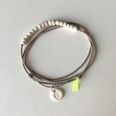 Bracelet de la Rhune/taupe / margote.ceramiste