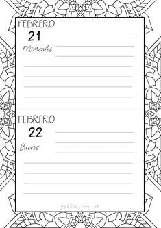 Agenda 2018 planificador imprimible descargar gratis for Disena tu casa gratis