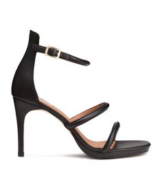 Sandaletter i skinn | Sort | Ladies | H&M NO