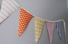 triangle cloth  streamer   loving the insta-festivity that garlands/buntings/flags/banners ...
