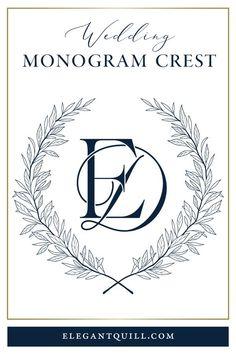 Monogram Design, Monogram Logo, Monogram Letters, Logo Design, Graphic Design, Wedding Logos, Monogram Wedding, Wedding Favors, Electronic Wedding Invitations