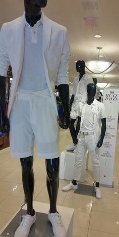 "Men's ""White Party"" display"