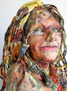 Brooklyn-based artist Will Kurtz creates life-size sculptures constructed of collaged materials from everyday objects.