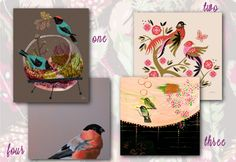 Modern Bird Themed Artwork for the Home from GreenBox Art + Culture