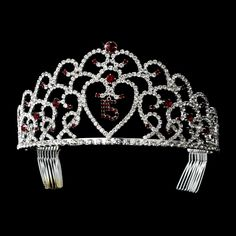 Red Quinceanera, Mis Quince Anos, Sweet 15 Tiara
