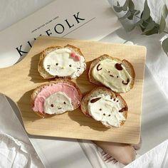 Hello Kitty, Good Food, Yummy Food, Cute Desserts, Cafe Food, Aesthetic Food, Food Art, Cravings, Food To Make