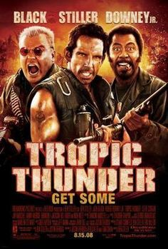 Tropic Thunder Movie poster Metal Sign Wall Art 8in x 12in