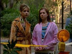 """When Buffy paired this velvety trench coat with a green scarf 