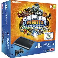 Sony PlayStation 3 PS3 Super Slim Console Bundle With 12GB HDD   Skylanders: Giants - Starter Pack