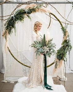 11 Winter Wonderland Wedding Ideas That Are Pure Magic  #purewow #trends #winter #wedding #planning #wreath #flowers #decor