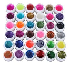 LIFECART 20 Color Acrylic Tips Glue Set Kit Nail Art Glitter Uv Gel Polish Top Coat Builder Powder ** Be sure to check out this awesome product.